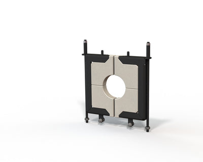 "Small, 5"" door or 6"" door, glory hole door system with replaceable door inserts."