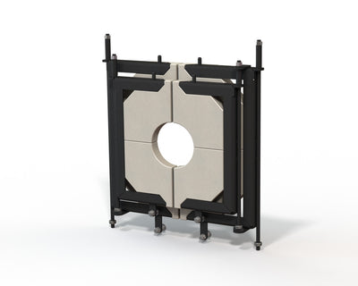 Medium, 2 door, glory hole door system with replaceable door inserts.