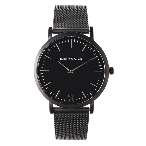 Deva 40mm 1st Edition - Matte Black Chain Metal - Burtley & Baines  - 1