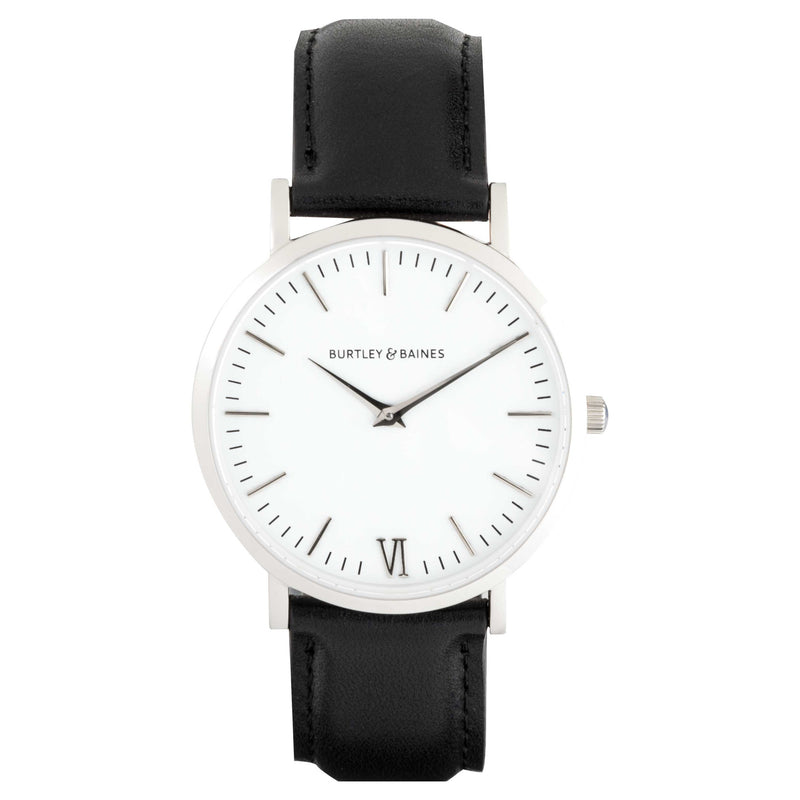 Deva 40mm 1st Edition - Black Leather - Burtley & Baines  - 1