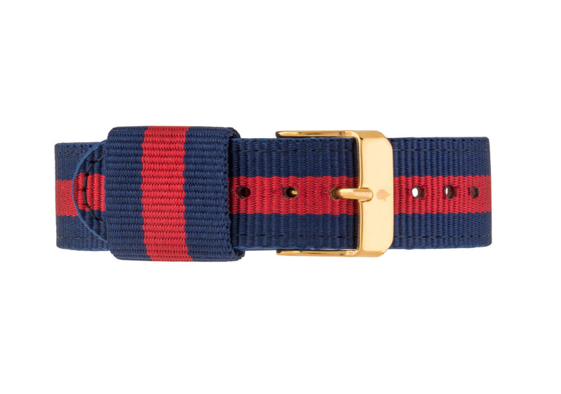 Blue & Red NATO Strap - Burtley & Baines  - 1