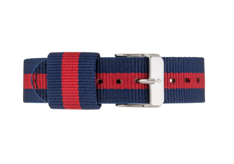 Blue & Red NATO Strap - Burtley & Baines  - 2
