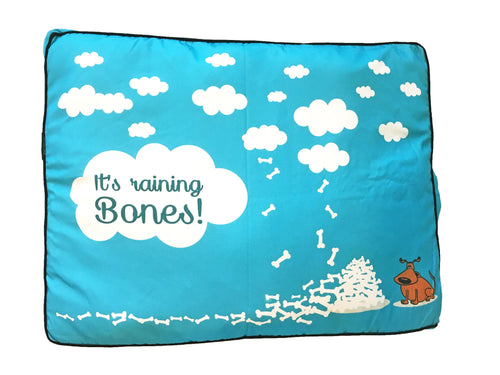 It's Raining Bones dog bed