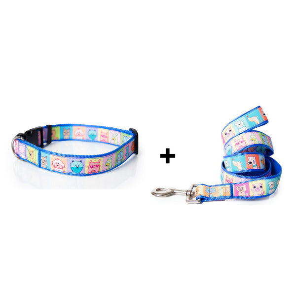 Pettraits Dog Collar and Leash Combo