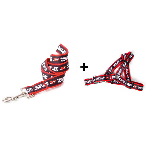 Love at First Sniff dog harness and leash combo