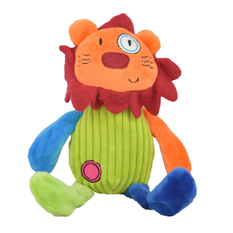 Plush lion dog toy