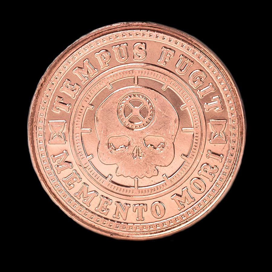 Carpe Diem Coin - Raw Copper (front)