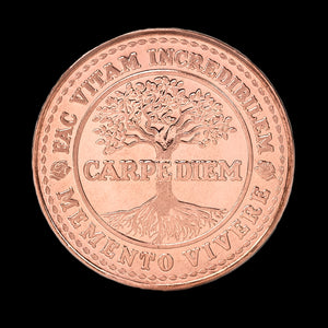 Carpe Diem Coin - Raw Copper (back)