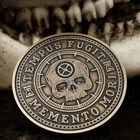 Carpe Diem Coin - Memento Mori Coin.  Make the most of today, because tomorrow is uncertain.