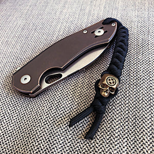 Skull Bead on Knife Lanyard