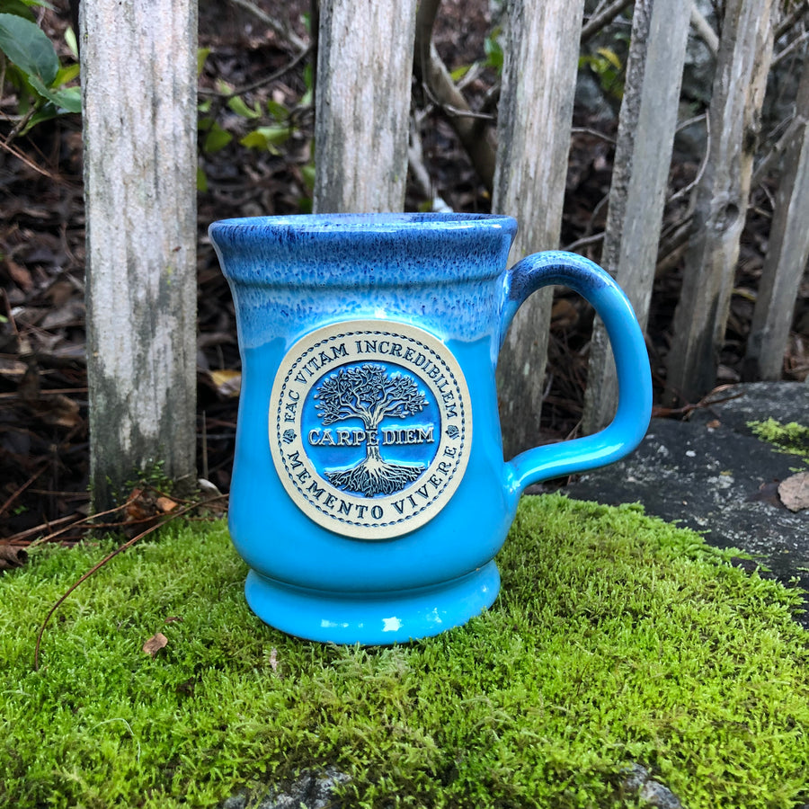 Carpe Diem Coffee Mug - Blue (outdoors)