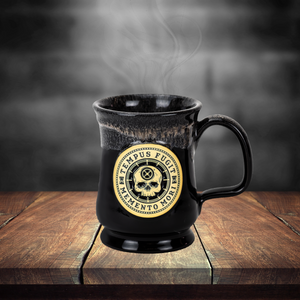 Carpe Diem Coffee Mug - Black (on table)