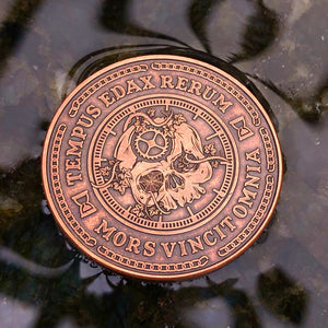 Carpe Noctem Coin - Antique Copper (front)