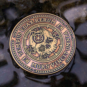Carpe Noctem Coin - Antique Bronze (front)