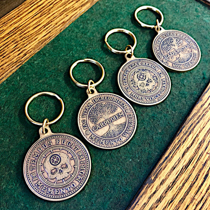 Carpe Diem and Carpe Noctem keychains