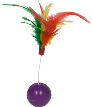 Cat Feather Ball Toy - Wild Wobbler