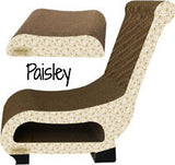 Club Chair with Ottoman Cat Scratcher - 3 Patterns