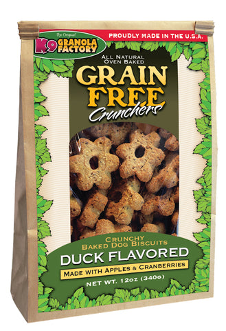 Grain Free Crunchers Savory Duck with Apple & Cranberry - 12 oz