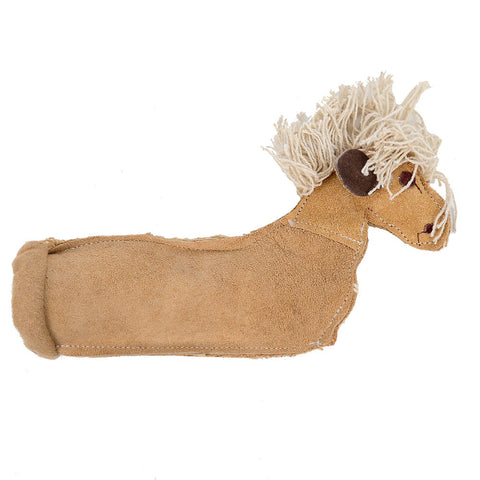 Krinkle Horse Leather Chew Toy