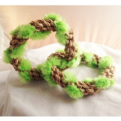 2 Circle Tug Hemp Rope Toy