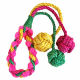 Triple Balls Hemp Rope Dog Chew Toy