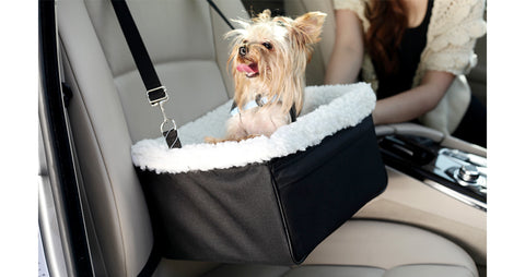FurryGo Adjustable Luxury Pet Car Booster Seat