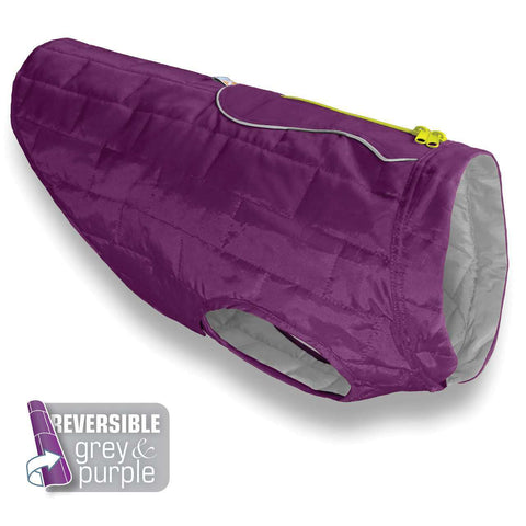 Loft Dog Jacket - Reversible - Purple Grey