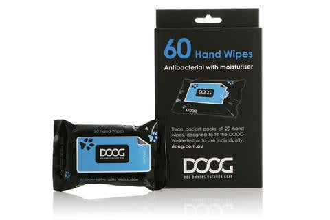 DOOG Anti-Bacterial Handwipes (3 packs of 20)