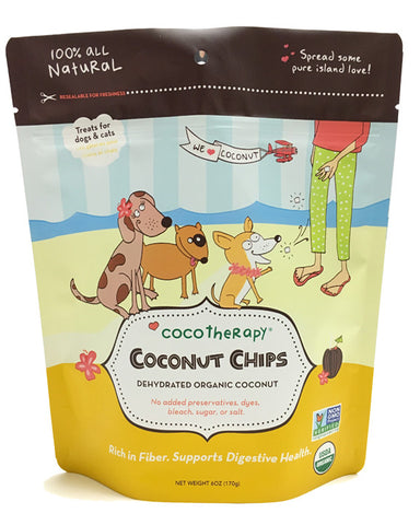 Coco Therapy Coconut Chips for Dogs & Cats!