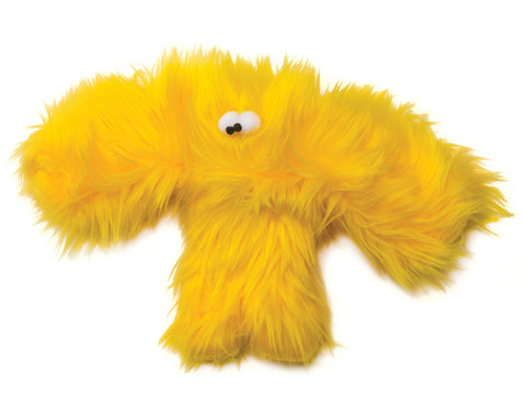 yellow fuzzy pet toy