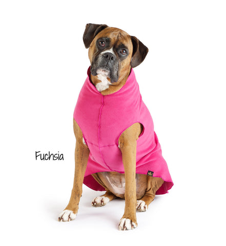 Fleece Lightweight Stretchy Jacket - Fuchsia