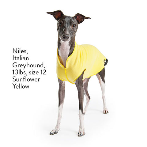 Fleece Lightweight Stretchy Jacket - Yellow