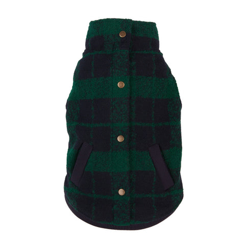 Boucle Jacket - Green/Navy