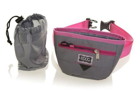 Good Doog Treat Pouches - Gray / Pink