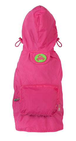 Fabdog Crab Raincoat - Hot Pink