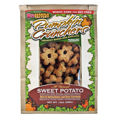 Pumpkin Crunchers Dog Treats - Sweet Potato w/ Carrot & Parsley