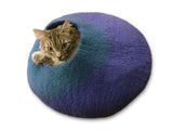 Cat Cave Cocoon - Blue and Turquoise