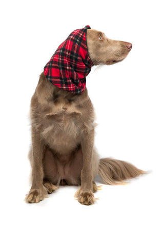 Snood Neck Warmer - Red Tartan/Black