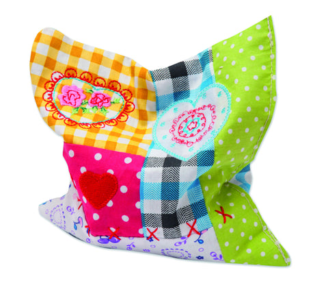 Patchwork Cushion - Valerian Root Catnip Toy