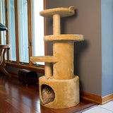 Dual Post Cat Tree Condo Tower - Beige