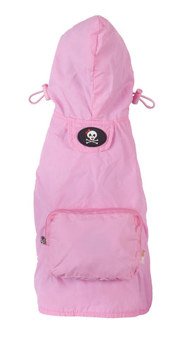 Fabdog Girlie Skull Raincoat - Light Pink