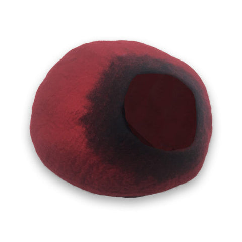 Cat Cave Cocoon - Red and Black