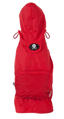 Fabdog Skull Raincoat - Red