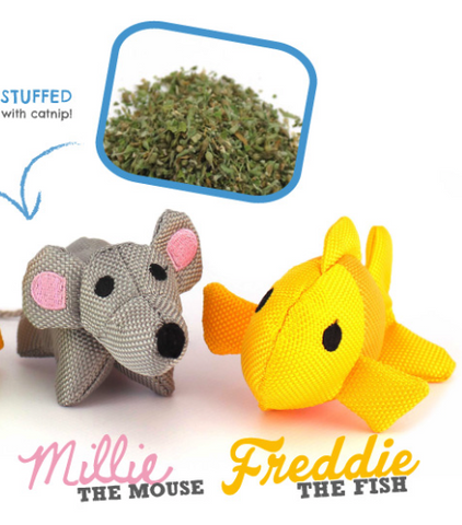 mouse and fish Plush Catnip Toys
