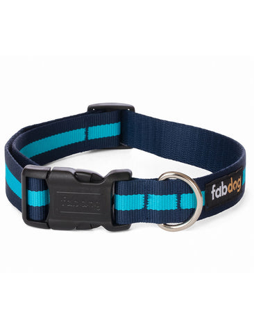 Fabdog Stripe Collar - Navy