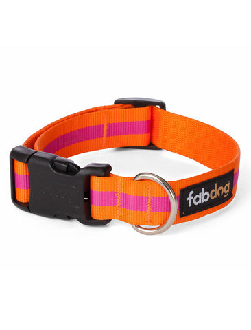 Fabdog Stripe Collar - Pink