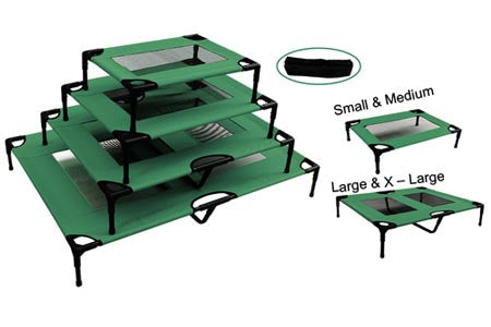 The Lazy Pet Cot Bed - Dark Green