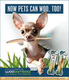 little dog on Bamboo Pet Toothbrush ad