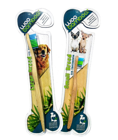 2 Bamboo Pet Toothbrushes
