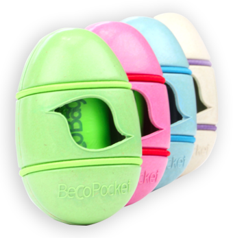 various color egg shaped Poop Bag Dispensers